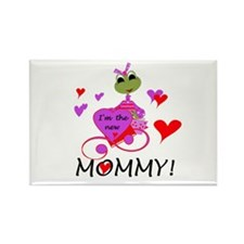 Frog New Mommy Rectangle Magnet (10 pack)