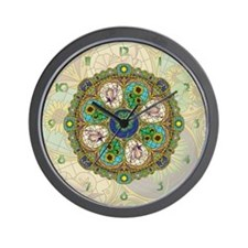 Summer Nouveau Wall Clock