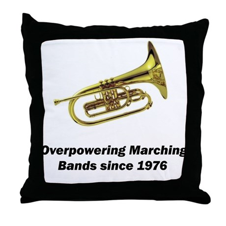 Mellophone Throw Pillow