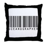 Oceanographer Barcode Throw Pillow