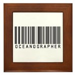 Oceanographer Barcode Framed Tile