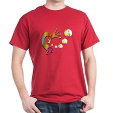 Kokopelli with Yin Yang #2 T-Shirt