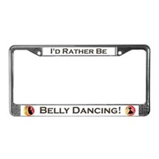 Funny Belly dancing License Plate Frame