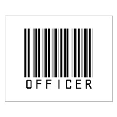 Officer Barcode Small Poster