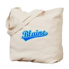 Retro Blaine (Blue) Tote Bag