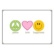 Peace Love & Happiness Banner