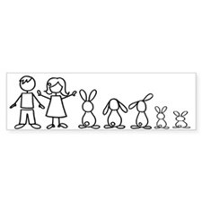 5 bunnies family Bumper Sticker (50 pk)