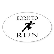 BORN TO RUN Oval Decal