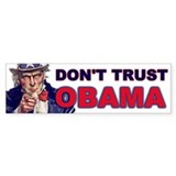 Don't Trust Obama Bumper Bumper Sticker