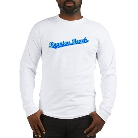 Retro Boynton Beach (Blue) Long Sleeve T-Shirt