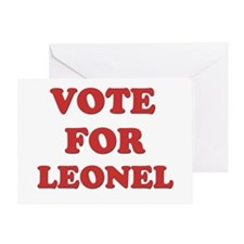 Vote for LEONEL Greeting Card