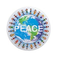 World Peace ceramic Christmas ornament