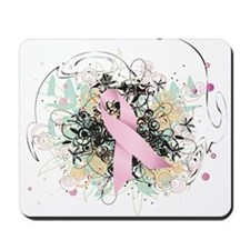 Pink Ribbon Abstract Mousepad