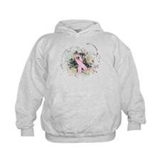Pink Ribbon Abstract Hoodie