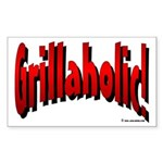Grillaholic Rectangle Sticker