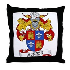 Alonzo Family Crest Throw Pillow