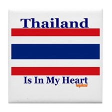 Thailand - Heart Tile Coaster