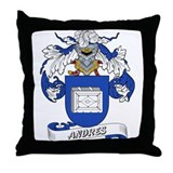Andres Family Crest Throw Pillow