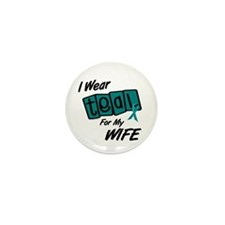 I Wear Teal 8.2 (Wife) Mini Button (100 pack)