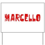 Marcello Faded (Red) Yard Sign