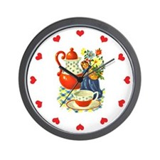 Vintage Country Kitchen Wall Clock - Coffee