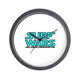 SURF WARS Wall Clock