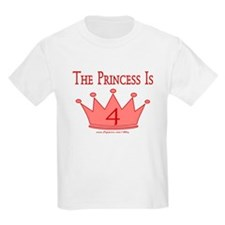 The Princess Is 4 T-Shirt