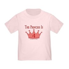 The Princess Is 4 T