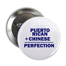 """Puerto Rican + Chinese 2.25"""" Button"""