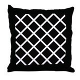 Black & white trellis appearance throw pillow