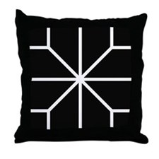 Graphical Design Black & White Throw Pillow