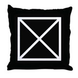 Black & white X pattern throw pillow