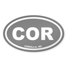 COR Corolla, NC Black Euro Oval Sticker (10 pk)