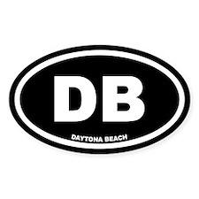DB Daytona Beach, Fl Black Euro Oval Decal