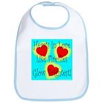 Firefly Hearts Bib