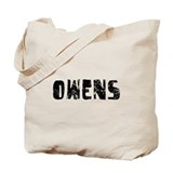 Owens Faded (Black) Tote Bag