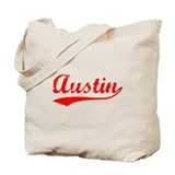 Vintage Austin (Red) Tote Bag