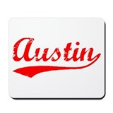 Vintage Austin (Red) Mousepad