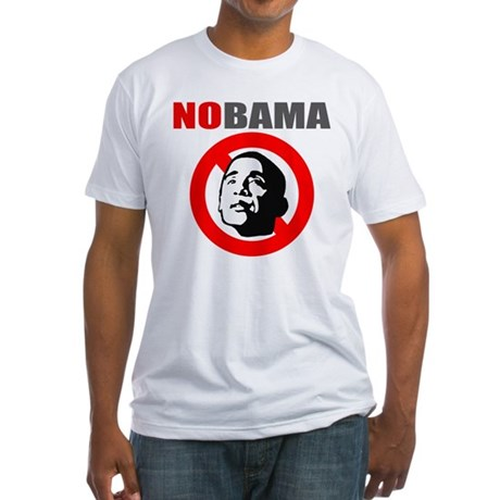 No Obama Fitted T-Shirt