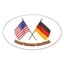 Proud German-American Oval Decal