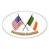 Proud Irish-American Oval  Aufkleber