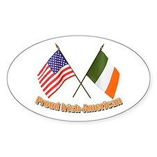 Proud Irish-American Oval Decal