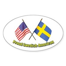 Proud Swedish-American Oval Decal