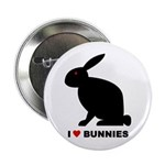 I Love Bunnies Button