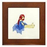 Anime Girl Framed Tile