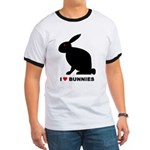I Love Bunnies Ringer T
