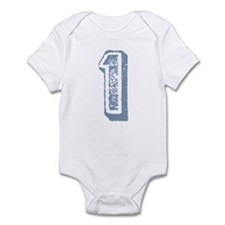 Blue Number 1 Birthday Infant Bodysuit