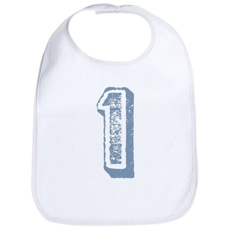 Blue Number 1 Birthday Bib