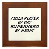 Viola Plyr Superhero by Night Framed Tile