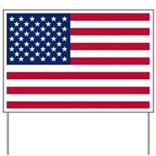 USA Flag Yard Sign